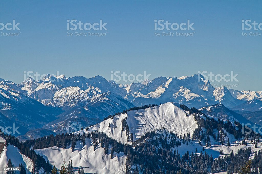 winter day at Hirschberg stock photo