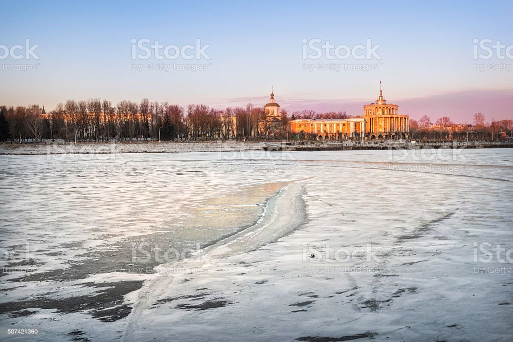 Winter Day in Tver stock photo