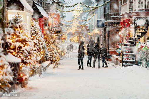 Winter day in old Quebec