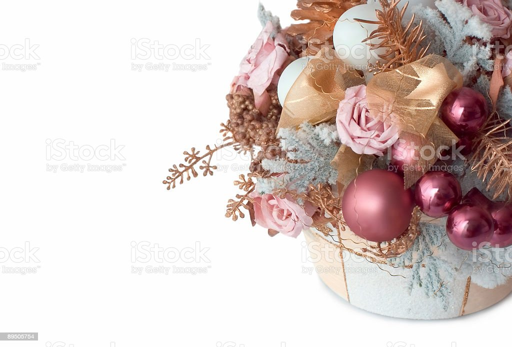 winter decoration isolated on white royalty-free stock photo