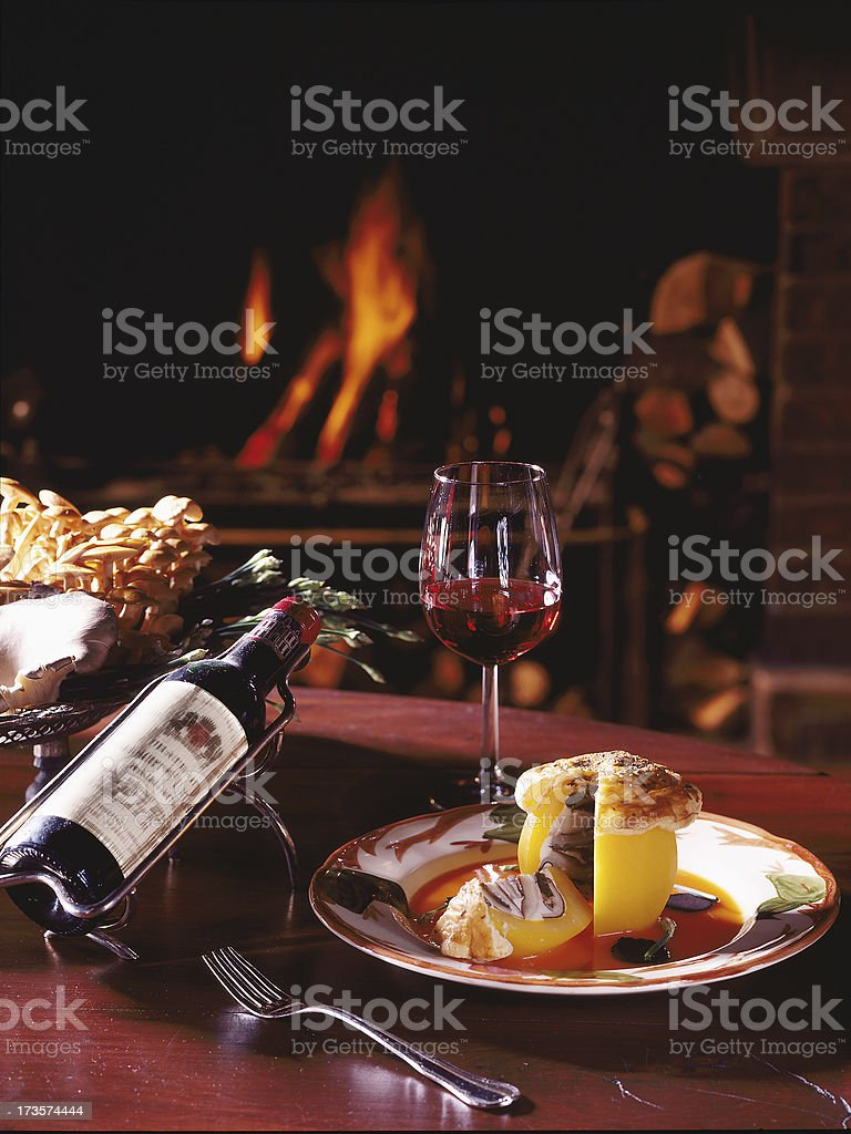 Winter diner royalty-free stock photo