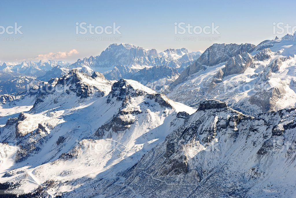 Winter Dolomites stock photo