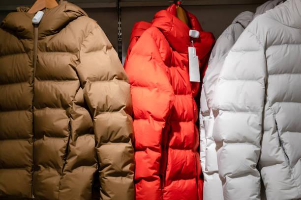 冬のダウン ジャケット - ダウンジャケット ストックフォトと画像