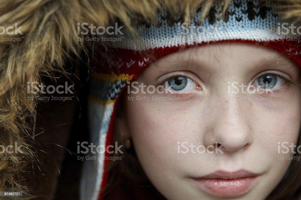 Winter dressed girl royalty-free stock photo
