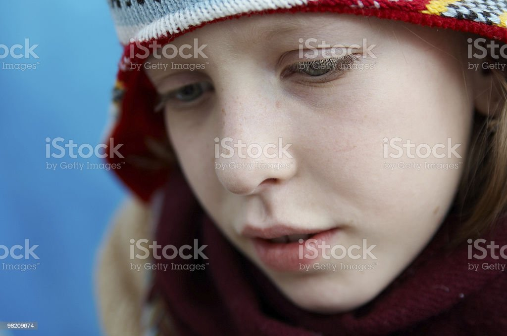 Winter dressed girl royalty-free stock photo