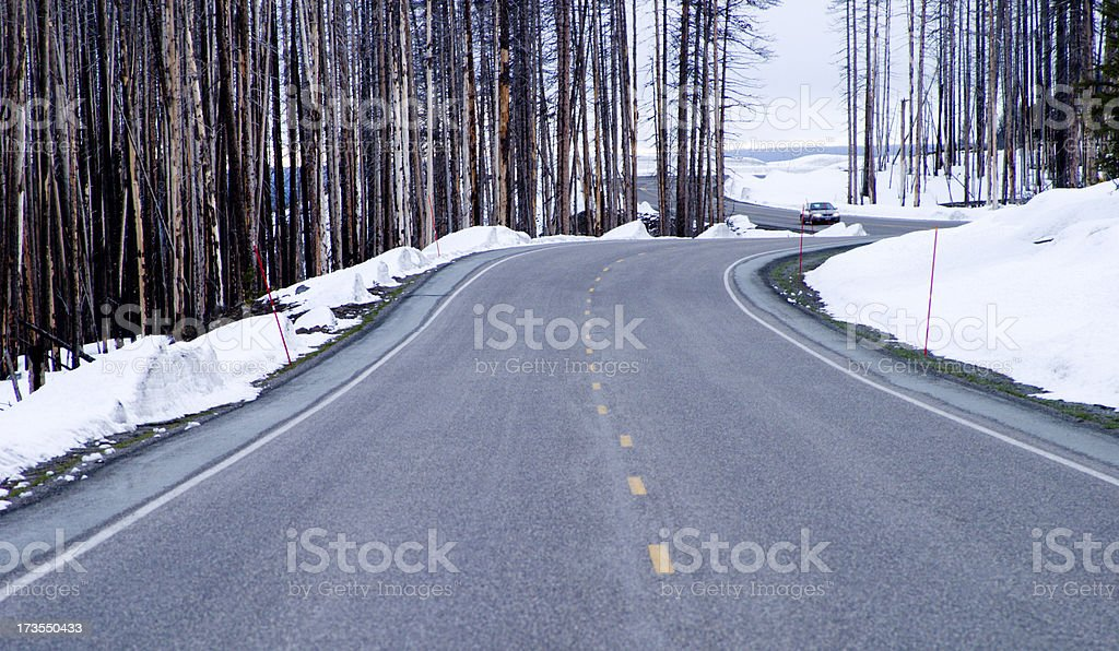 Winter Drive royalty-free stock photo