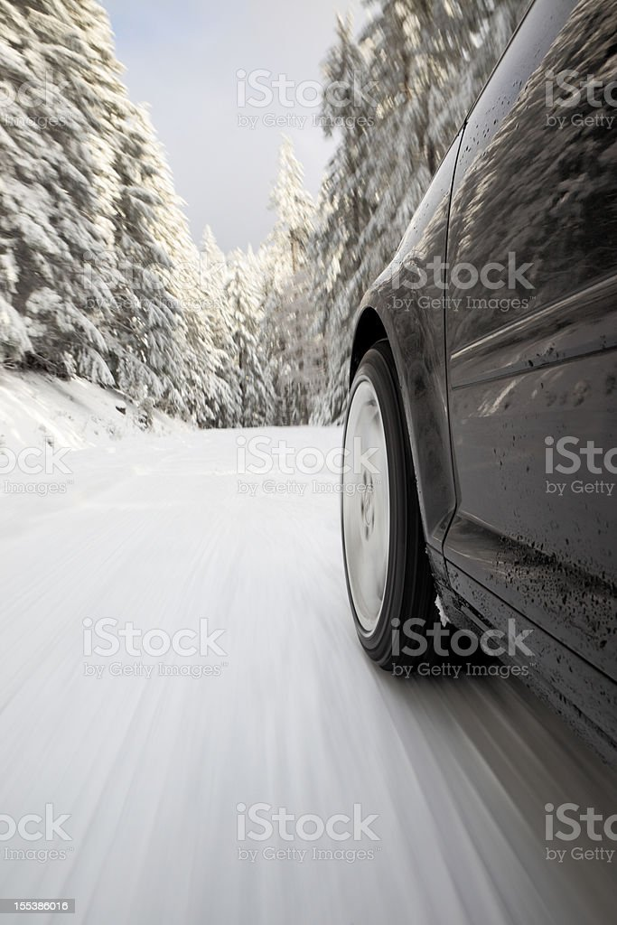 Winter Drive Snow. royalty-free stock photo