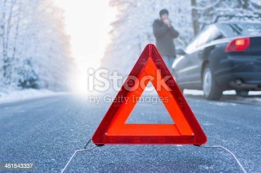 482803237istockphoto Winter driving - car breakdown 451543337