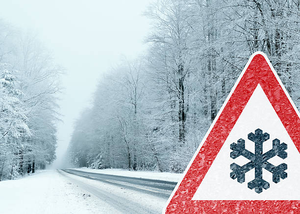 Winter Auto-Vorsicht – Foto