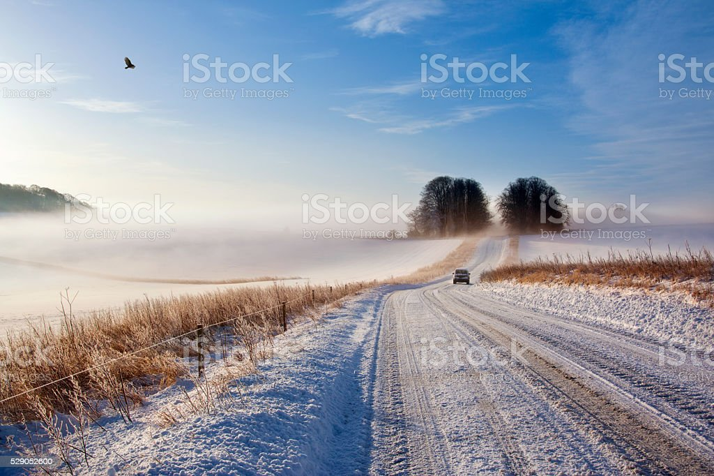 Winter Driving Conditions - England stock photo
