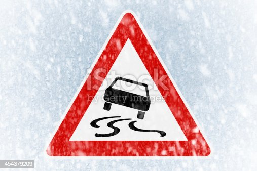 482803237istockphoto Winter driving - ice covered windshield with warning sign 454379209