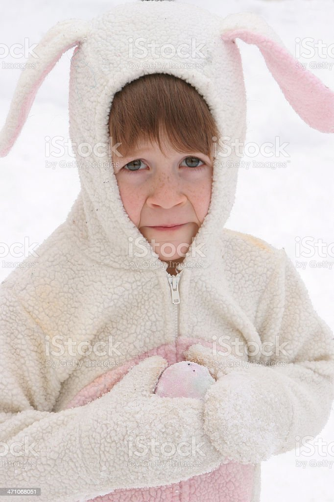 Winter Easter Bunny royalty-free stock photo