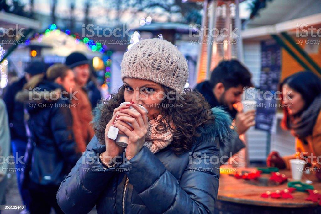 Winter Enjoyment stock photo