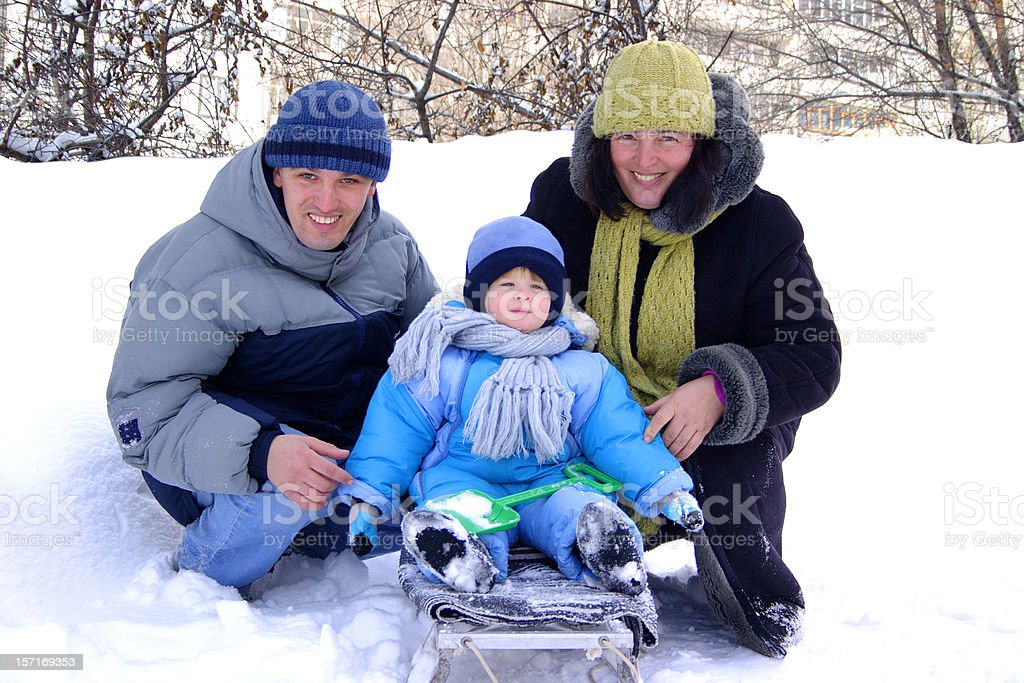 Winter entertainments royalty-free stock photo