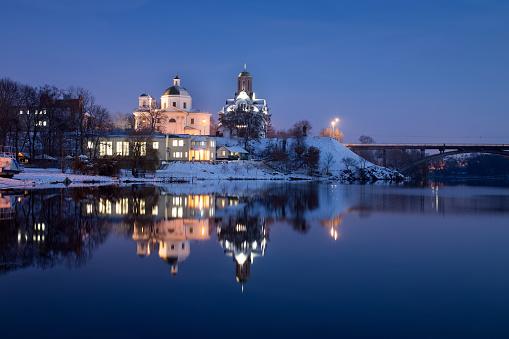 Winter evening in Bila Tserkva
