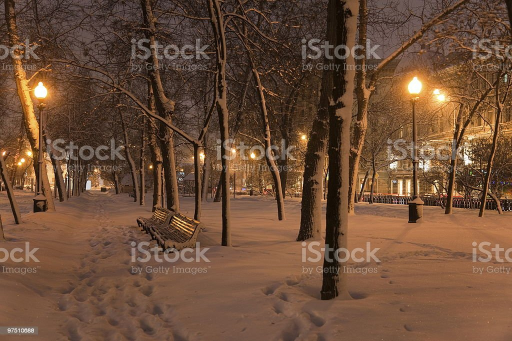 Winter evening. Moscow. Russia. royalty-free stock photo