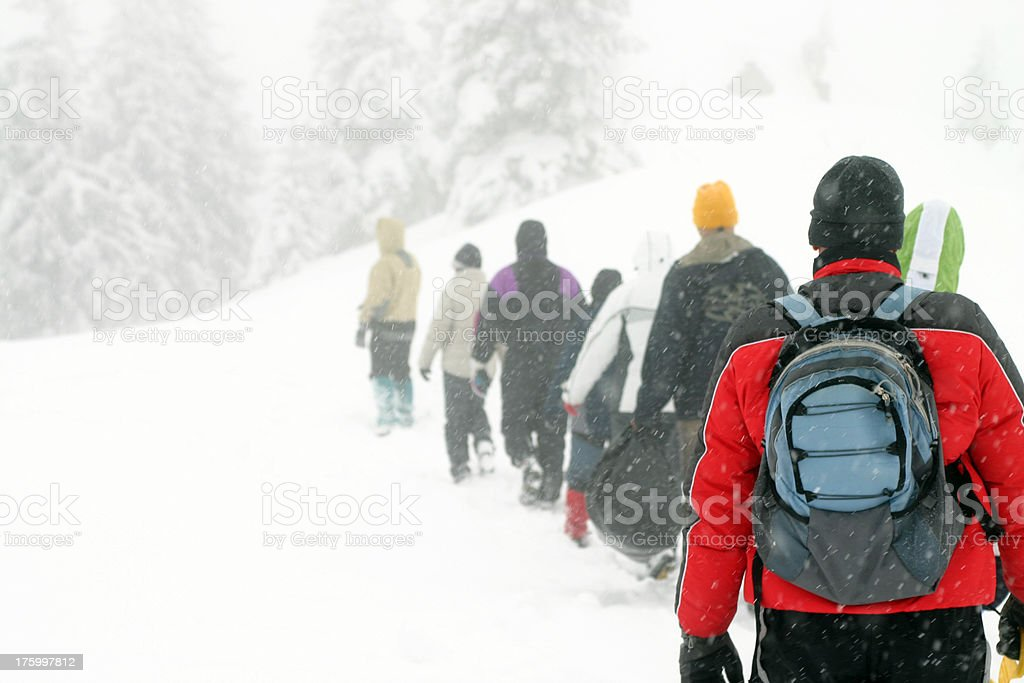 Winter expedition royalty-free stock photo