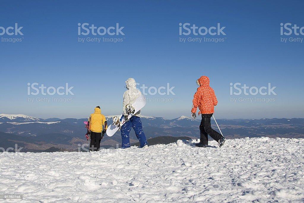 Winter extreme royalty-free stock photo