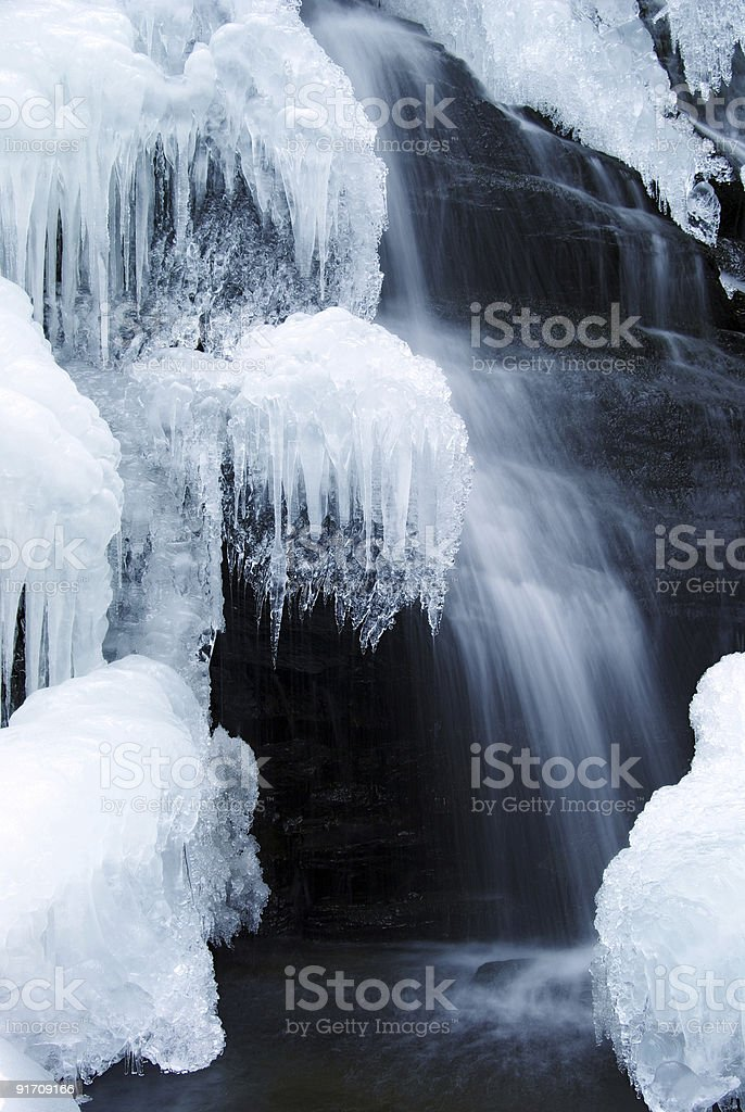 Winter fall stock photo