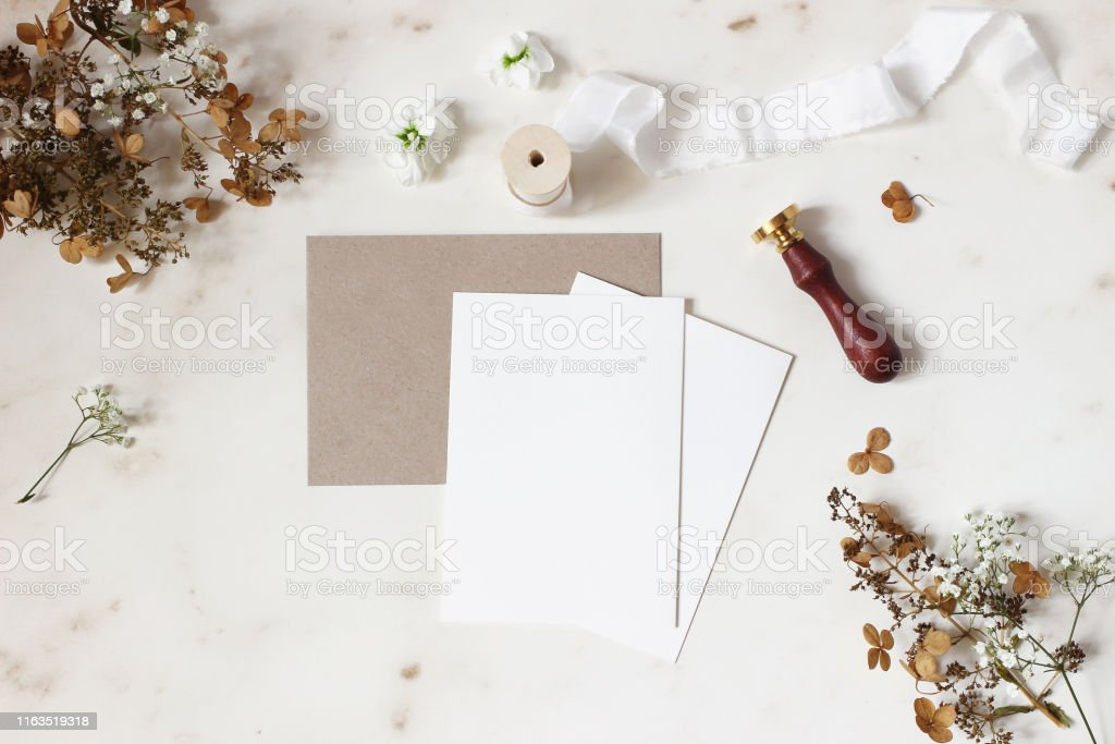 Winter, fall wedding, birthday table composition. Stationery mockup...