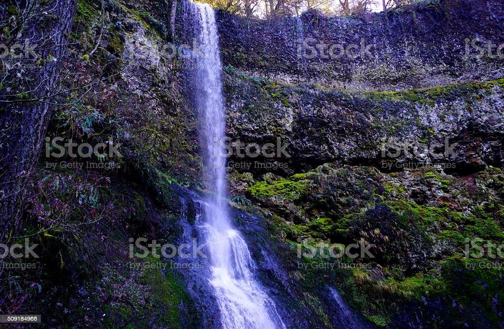 Winter Falls stock photo
