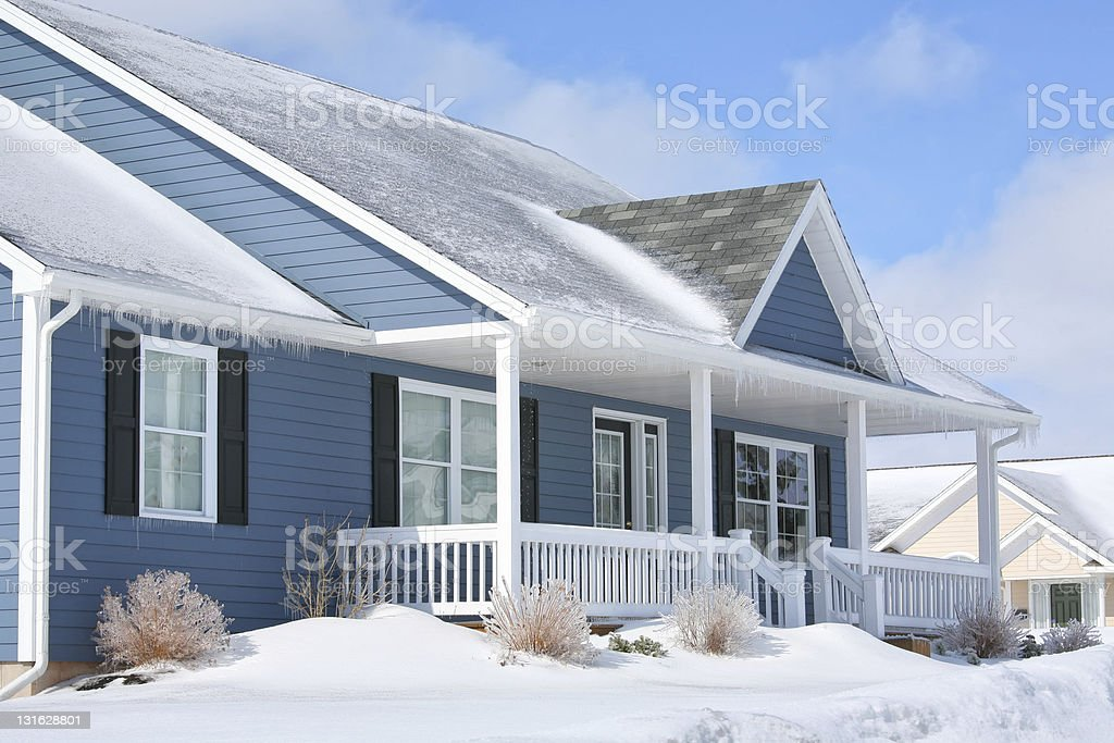 Winter Family Home stock photo