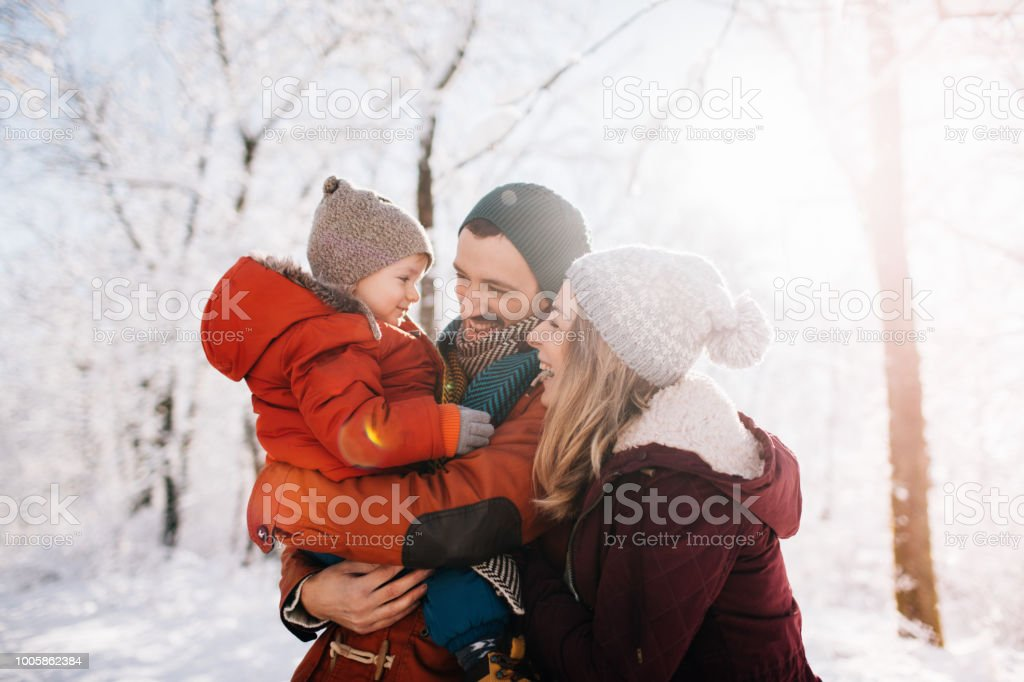 Winter Familien portrait – Foto
