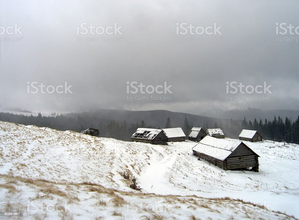 winter farming royalty-free stock photo