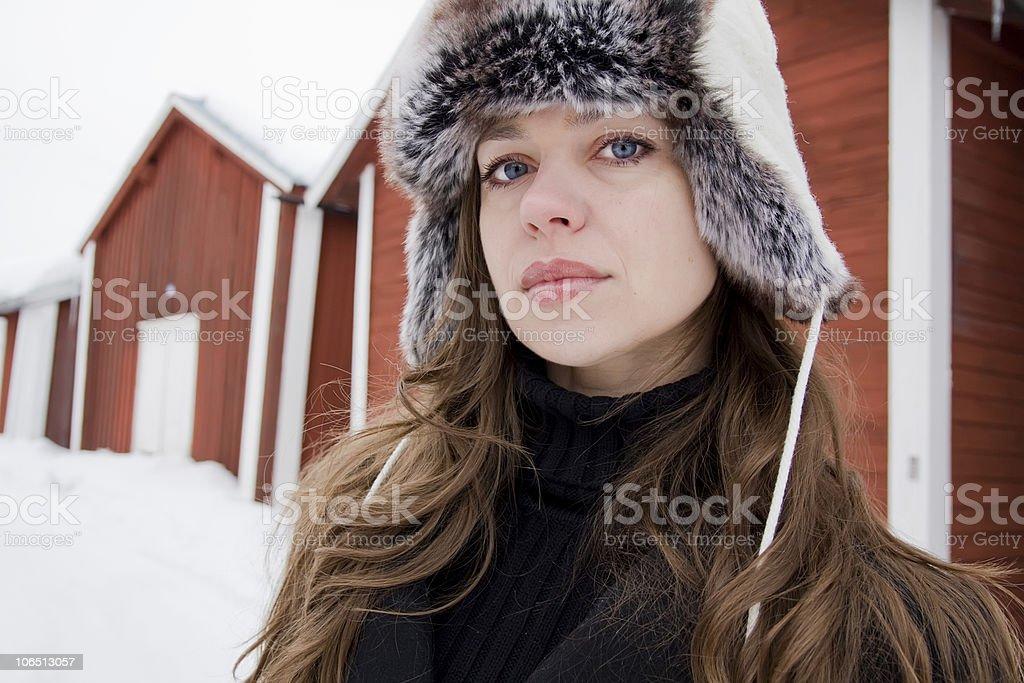 Winter fashion girl royalty-free stock photo