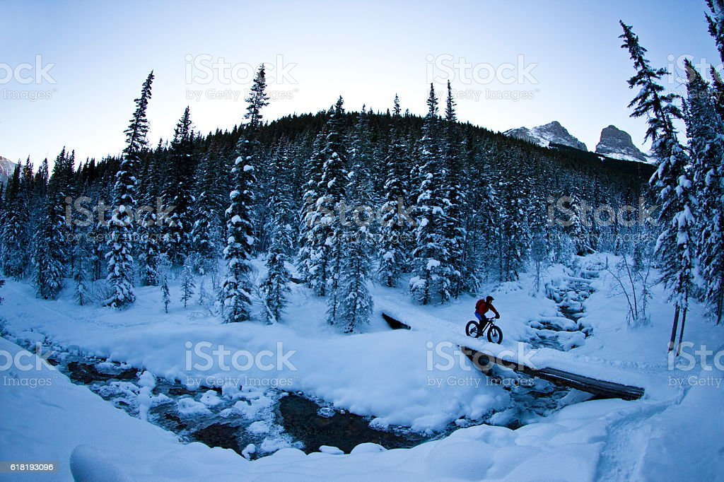 Winter Fat Bike Adventure stock photo