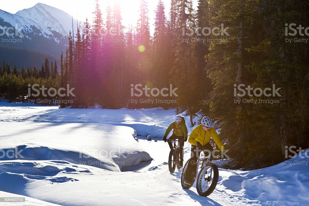 Winter Fat Biking stock photo