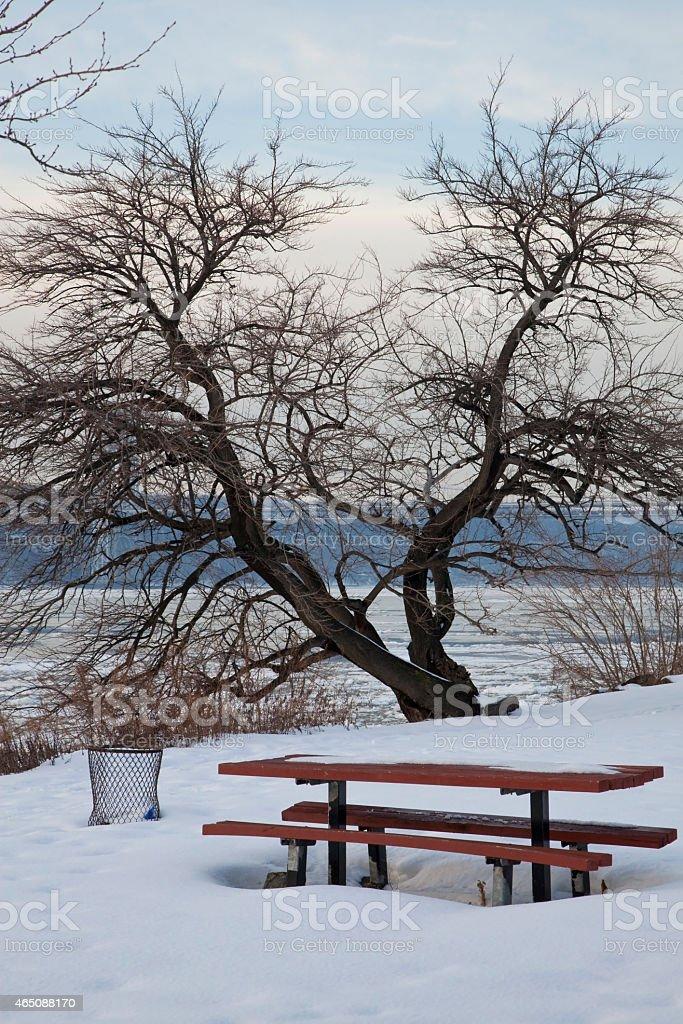 Winter  february Scene in NYC stock photo