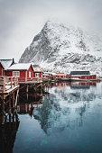 Winter time in Reine on the Lofoten - Norway