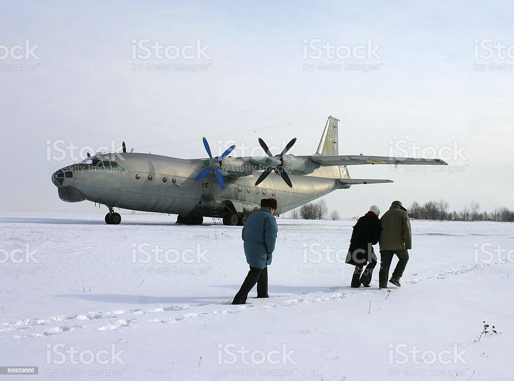 Winter flight royalty-free stock photo
