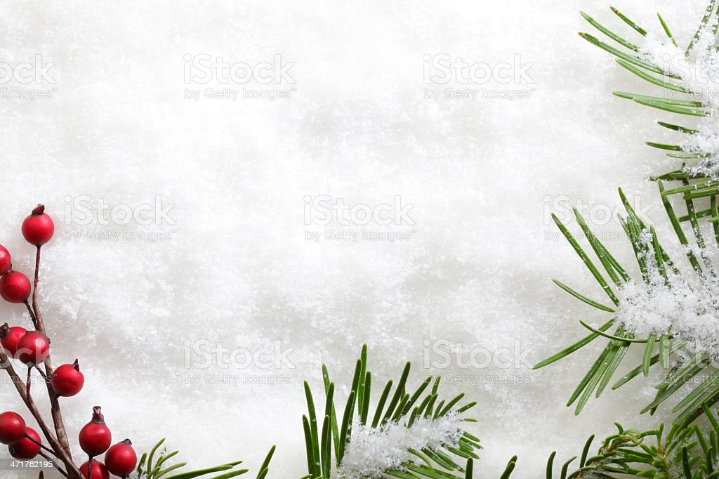 Winter Frame royalty-free stock photo