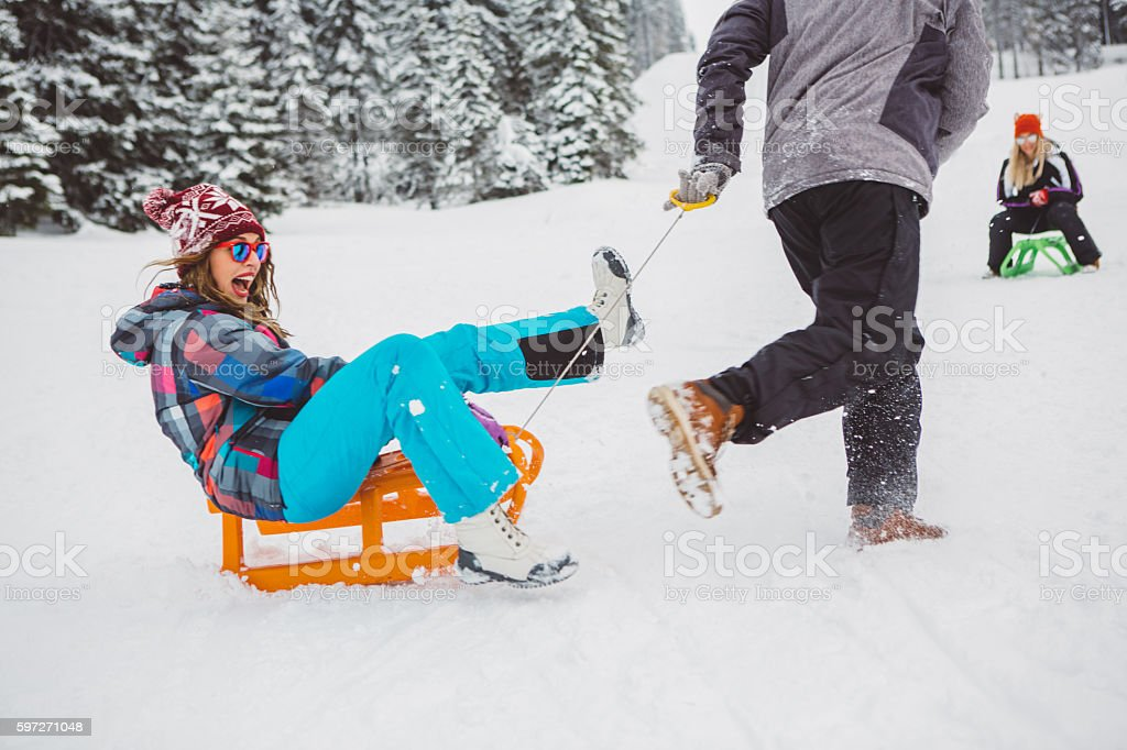 Winter fun royalty-free stock photo
