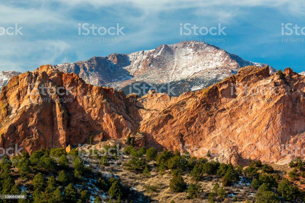 Winter Garden Of The Gods Colorado Stock Photo Download