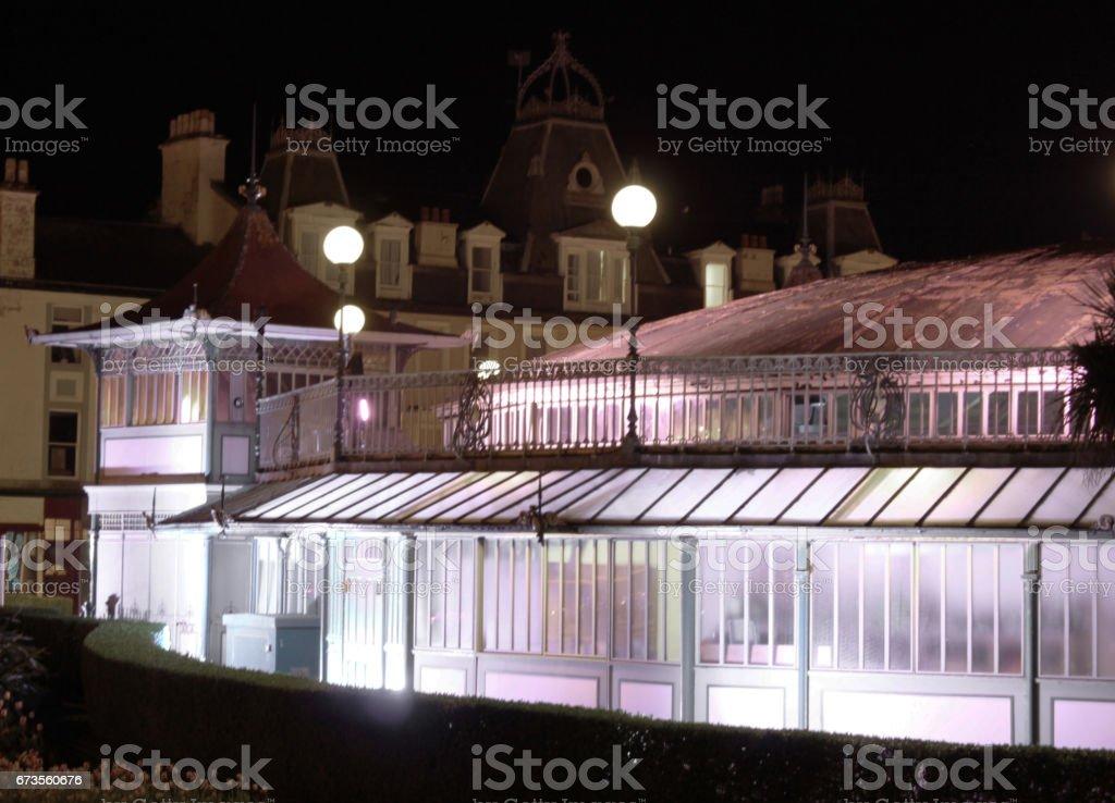 Winter Gardens at Night royalty-free stock photo