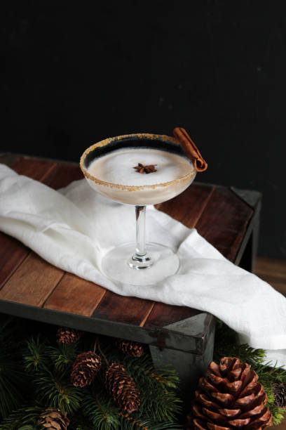 Winter Gingerbread Cocktail stock photo