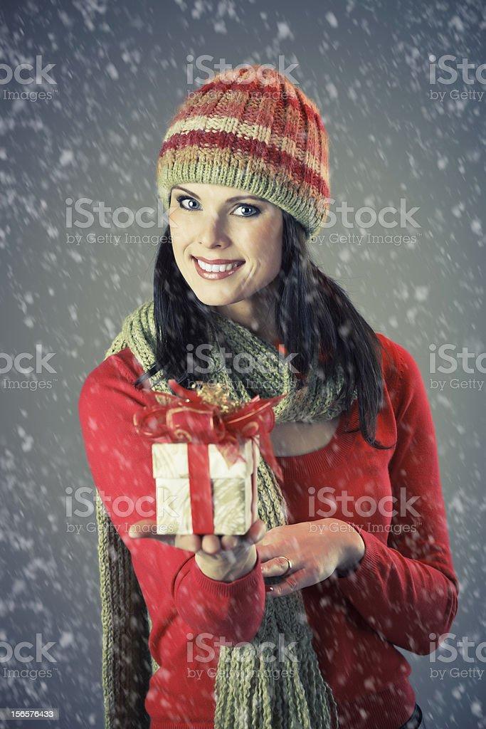 Winter girl royalty-free stock photo