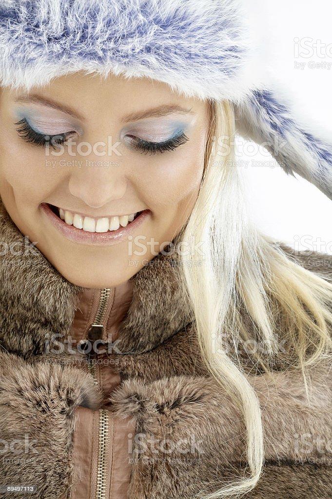 Ragazza inverno foto stock royalty-free