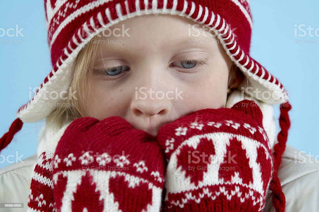 Winter Mädchen Lizenzfreies stock-foto