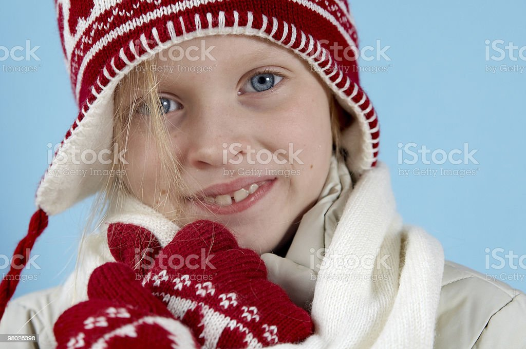 Winter girl royalty-free stock photo