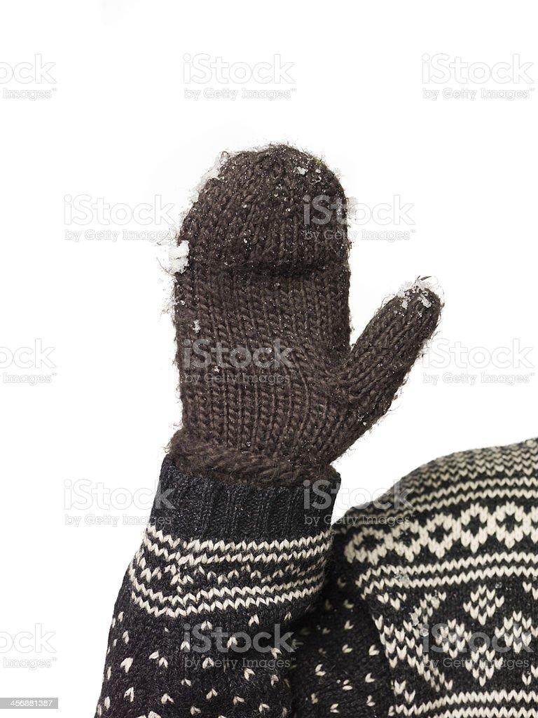 Winter glove stock photo