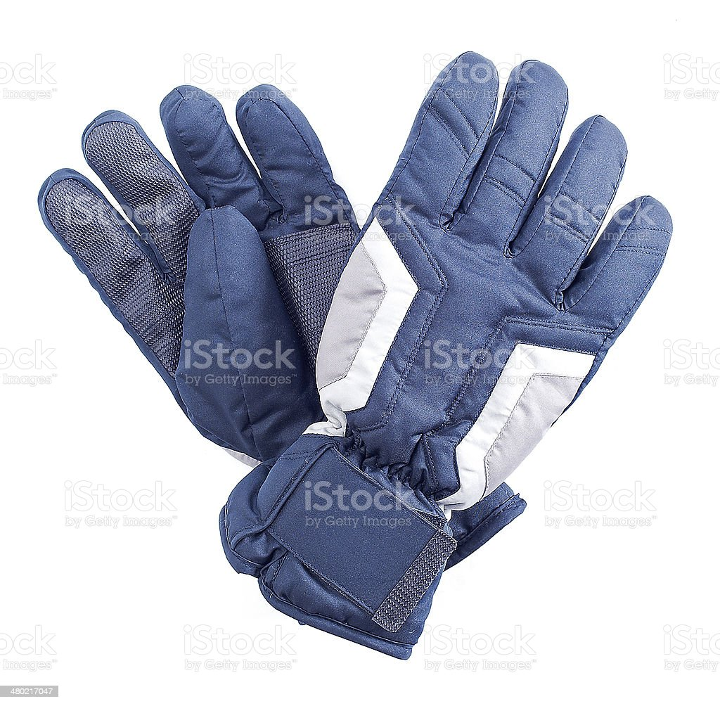 winter gloves stock photo