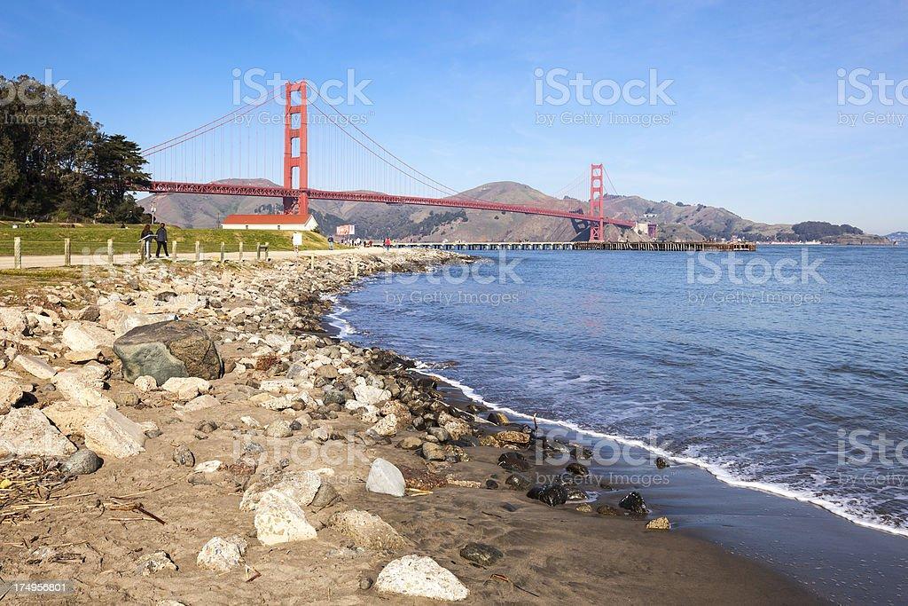 Winter Golden Gate royalty-free stock photo