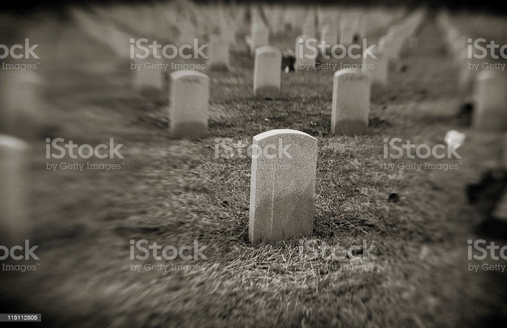 winter graveyard royalty-free stock photo
