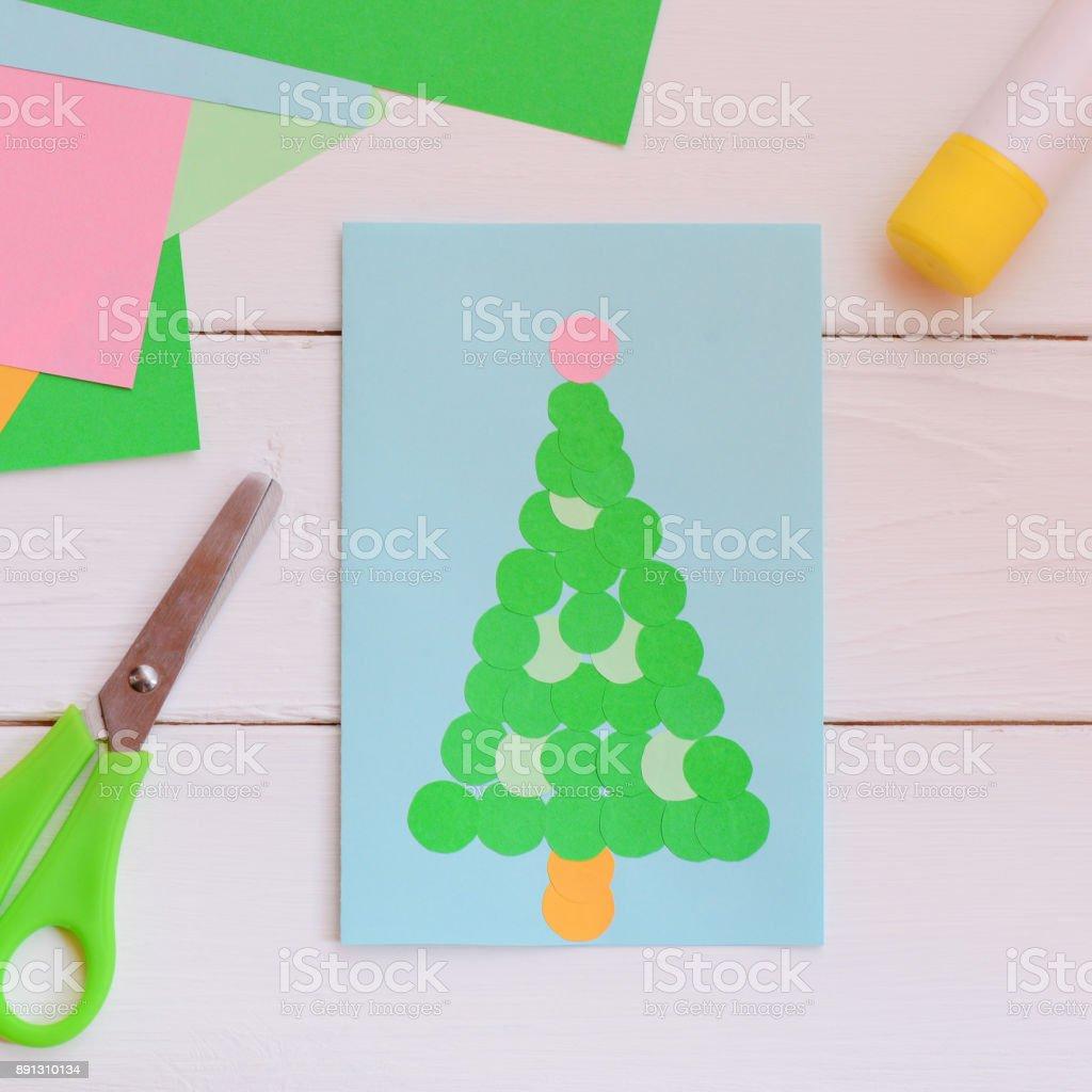 Winter Greeting Card With Christmas Tree Nice Christmas Greeting ...