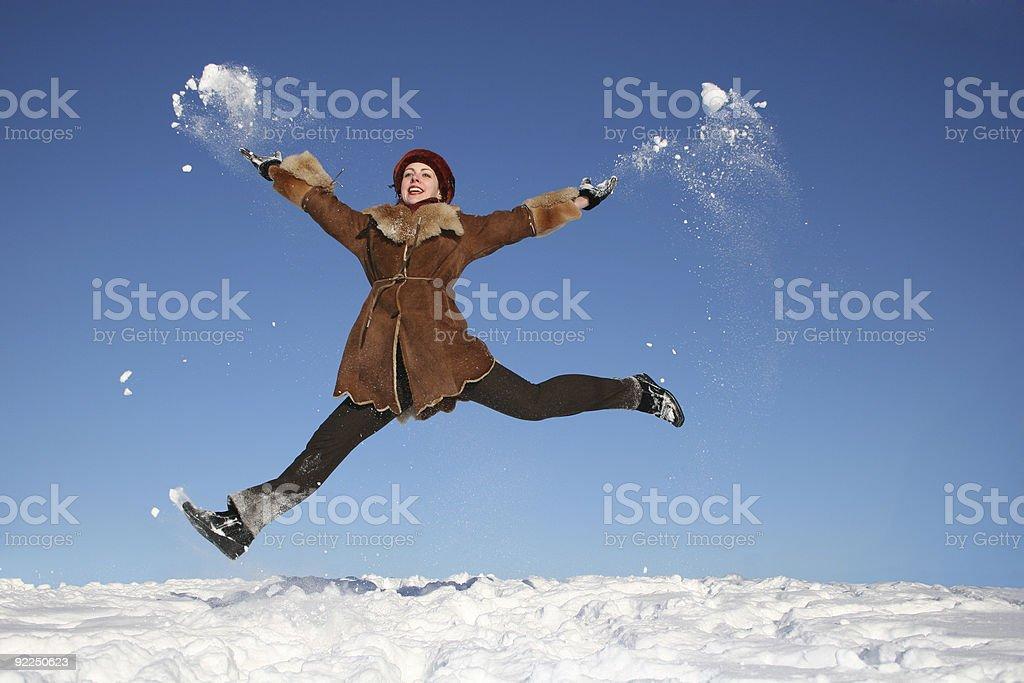 winter happy girl 3 royalty-free stock photo