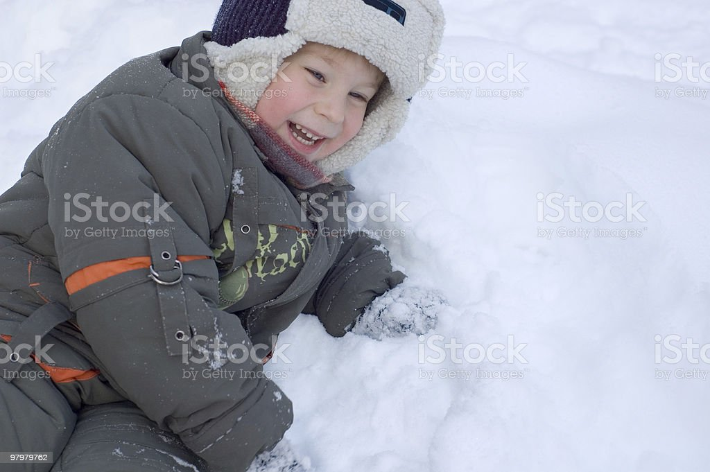 winter happy royalty-free stock photo